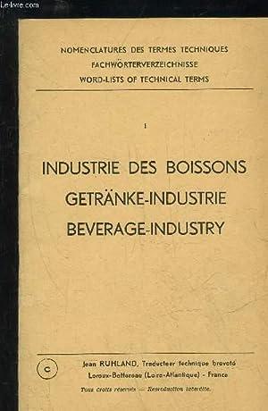 INDUSTRIES DES BOISSONS / GETRANKE-INDUSTRIE / BEVERAGE-INDUSTRY: COLLECTIF