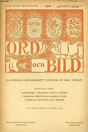 ORD OCH BILD, NITTONDE ÅRGÅNGEN, 1910, NIONDE: COLLECTIF