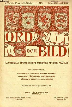 ORD OCH BILD, TJUGUANDRA ÅRGÅNGEN, 1913, SJUNDE HÄFTET (INNEHÅLL: Tegn&...
