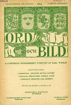 ORD OCH BILD, TJUGUTREDJE ÅRGÅNGEN, 1914, TOLFTE: COLLECTIF