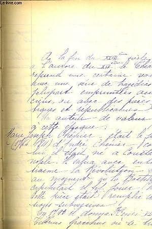 MANUSCRIT : ETUDES LITTERAIRES DES ECRIVAINS DU XIX SIECLE.: SWHAN L.