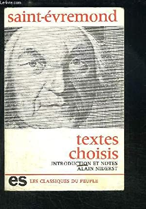 Textes choisis: SAINT-EVREMOND