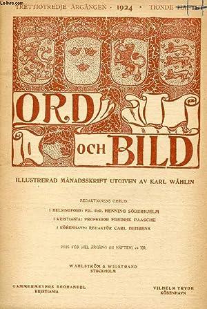 ORD OCH BILD, TRETTIOTREDJE ÅRGÅNGEN, 1924, TIONDE HÄFTET (INNEHÅLL: Antika ...