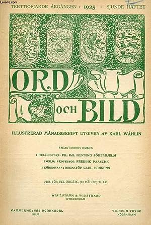 ORD OCH BILD, TRETTIOFJÄRDE ÅRGÅNGEN, 1925, SJUNDE: COLLECTIF
