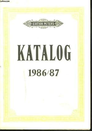EDITION PETERS. KATALOG 1986-1987.: COLLECTIF