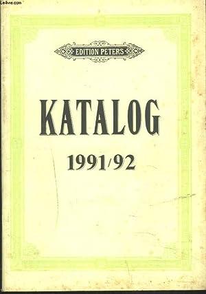 EDITION PETERS. KATALOG 1991-1992.: COLLECTIF
