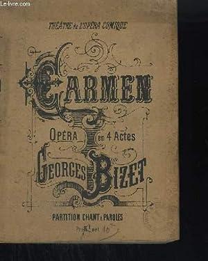 CARMEN - OPERA EN 4 ACTES - PARTITION CHANT ET PIANO.: BIZET GEORGES