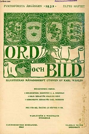 ORD OCH BILD, FYRTIOFÖRSTA ÅRGÅNGEN, 1932, ELFTE: COLLECTIF