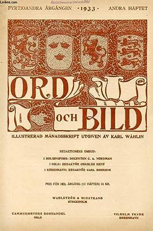 ORD OCH BILD, FYRTIOANDRA ÅRGÅNGEN, 1933, ANDRA: COLLECTIF