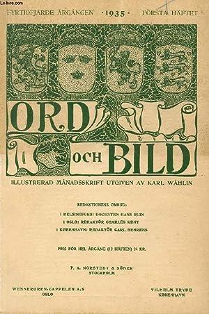 ORD OCH BILD, FYRTIOFJÄRDE ÅRGÅNGEN, 1935, FÖRSTA: COLLECTIF