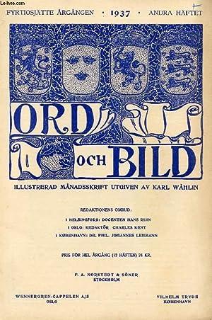 ORD OCH BILD, FYRTIOSJÄTTE ÅRGÅNGEN, 1937, ANDRA: COLLECTIF