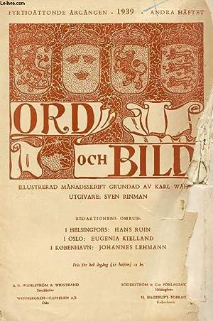 ORD OCH BILD, FYRTIOÅTTONDE ÅRGÅNGEN, 1939, ANDRA: COLLECTIF