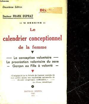 LE CALENDRIER CONCEPTIONNEL DE LA FEMME: DOCTEUR FRANK DUPRAT