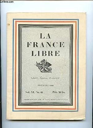 LA FRANCE LIBRE N° 61 VOL XI: COLLECTIF.