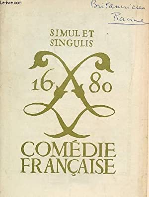 CHRONIQUE DE LA COMEDIE FRANCAISE - SEPTEMBRE-DECEMBRE 1967.: COLLECTIF