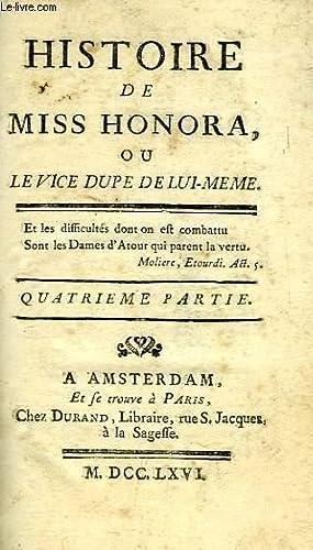 HISTOIRE DE MISS HONORA, OU LE VICE DUPE DE LUI-MEME, IVe PARTIE: LEFEBVRE DE BEAUVRAY C.-R.
