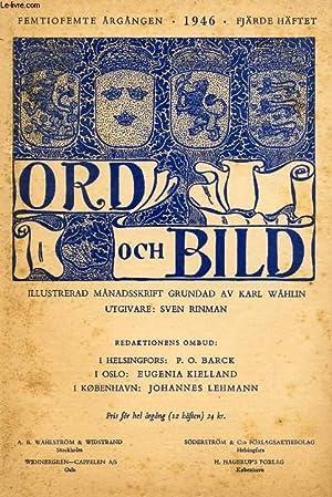 ORD OCH BILD, FEMTIOFEMTE ÅRGÅNGEN, 1946, FJÄRDE: COLLECTIF