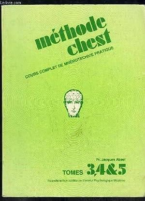 METHODE CHEST. COUPLET DE MNEMOTECHNIE PRATIQUE TOME: ABEEL JACQUES.