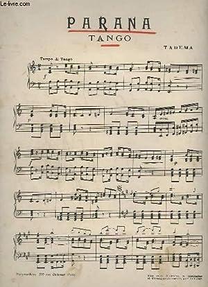 PARANA - TANGO POUR PIANO.: TADEMA