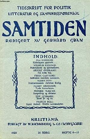 SAMTIDEN, 1920, 31 AARG, HEFTE 9-10, TIDSSKRIFT: COLLECTIF