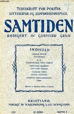SAMTIDEN, 1921, 32 AARG, HEFTE 8, TIDSSKRIFT: COLLECTIF