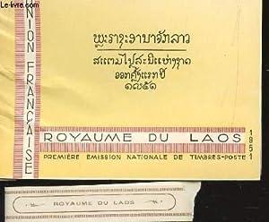 CARNET DE TIMBRES-POSTE : ROYAUME DU LAOS - PREMIERE EMISSION NATIONALE DE TIMBRES-POSTE - ANNEE ...