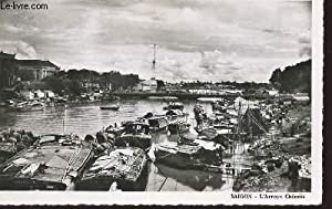 1 PHOTO-CARTE POSTALE EN NOIR ET BLANC DIMENSION 9 X 14 Cm : SUD DU VIET-NAM - SAIGON : L'...
