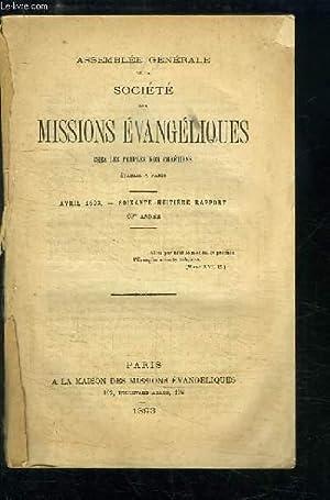 Assemblée générale de la Société des Missions Evangé...