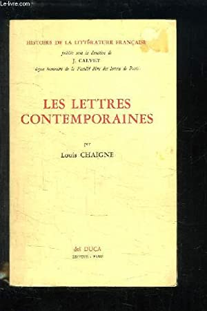 Les Lettres Contemporaines: CHAIGNE Louis