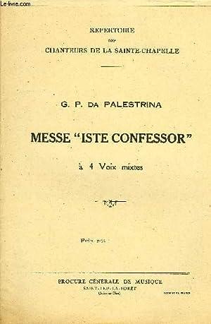 "MESSE ""ISTE CONFESSOR"": DA PALESTRINA G.P."