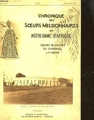 CHRONIQUE DES SOEURS MISSIONNAIRES DE NOTRE-DAME D'AFRIQUE SOEURS BLANCHES DU CARDINAL ...