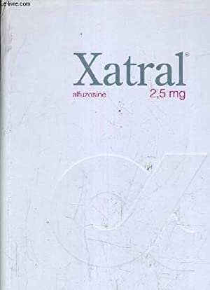 XATRAL 2,5 MG ALFUZOSINE.: LABORATOIRES SYNTHELABO FRANCE