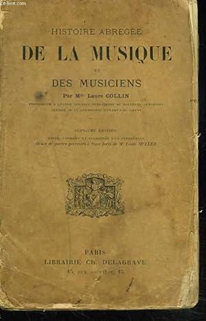 HISTOIRE ABREGEE DE LA MUSIQUE ET DES MUSICIENS.: Mlle COLLIN