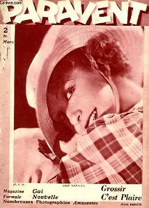 PARAVENT - N°11 - MARS 1934 / GROSSIR C'EST PLAIRE / MATHILDE FACHEE OU LES ...