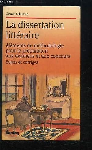 dissertation litteraire