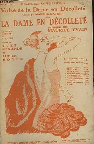 VALSE DE LA DAME EN DECOLLETE - N°5 - COUPLET.: YVAIN MAURICE