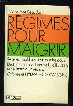 REGIMES POUR MAIGRIR.: BEAUDOIN MARIE JOSE.