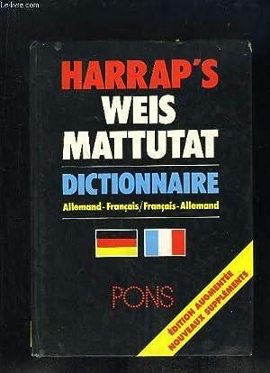HARRAP S. DICTIONNAIRES ALLEMAND FRANCAIS ET FRANCAIS ALLEMAND.: MATTUTAT WEIS.