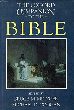THE OXFORD COMPANION TO THE BIBLE: METZGER BRUCE M., COOGAN MICHAEL D.