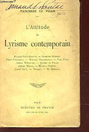 L'ATTITUDE DU LYRISME CONTEMPORAIN : Francis Viélé-Griffin,: TANCRENE DE VISAN