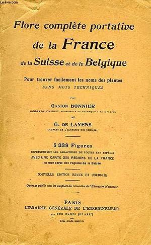 Carte Belgique Complete.Gaston Bonnier Layens Flore Complete Portative France