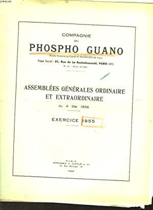 1 LOT DE 3 - COMPAGNIE DU PHOSPHO GUANO -: COLLECTIF