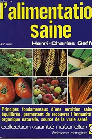 L'ALIMENTATION SAINE: GEFFROY HENRI-CHARLES
