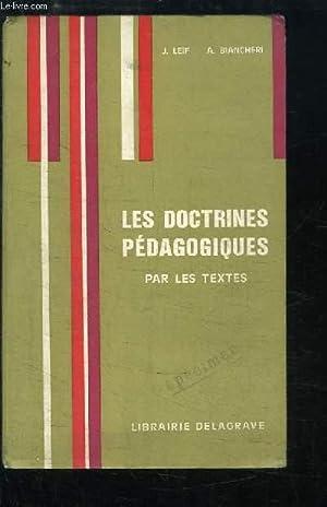 Les Doctrines pédagogiques par les textes: LEIF J. et BIANCHERI A.