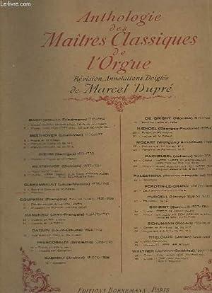 ANTHOLOGIE DES MAITRES CLASSIQUES DE L'ORGUE - N°10 : PLEIN JEU.: DUPRE MARCEL