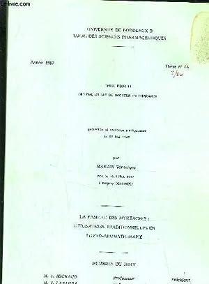 THESE POUR LE DIPLOME D'ETAT DE DOCTEUR EN PHARMACIE PRESENTEE ET SOUTENUE PUBLIQUEMENT LE 13 ...