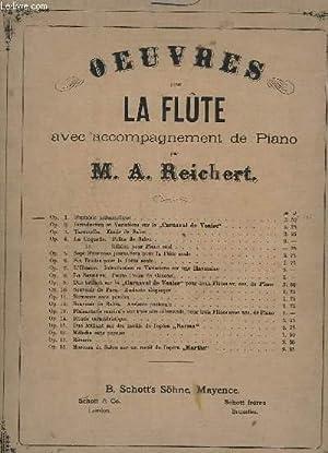 FANTAISIE MELANCOLIQUE POUR LA FLUTE AVEC ACCOMPAGNEMENT DE PIANO - OP.1.: REICHERT M. A.