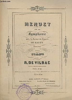 MENUET DE LA SYMPHONIE - DITE LA: VILBAC R.
