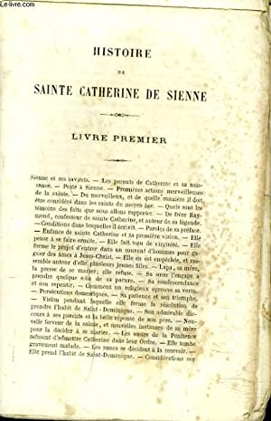 HISTOIRE DE SAINTE CATHERINE DE SIENNE.: ALPHONSE CAPACELATRO