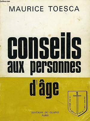 CONSEILS AUX PERSONNES D'AGE: TOESCA MAURICE